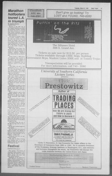 Daily Trojan, Vol. 114, No. 36, March 05, 1991