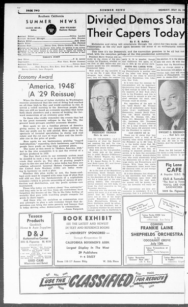 Summer News, Vol. 3, No. 9, July 12, 1948