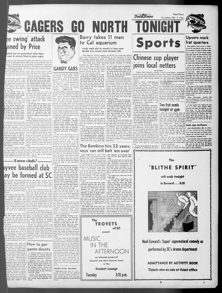Daily Trojan, Vol. 37, No. 66, February 07, 1946
