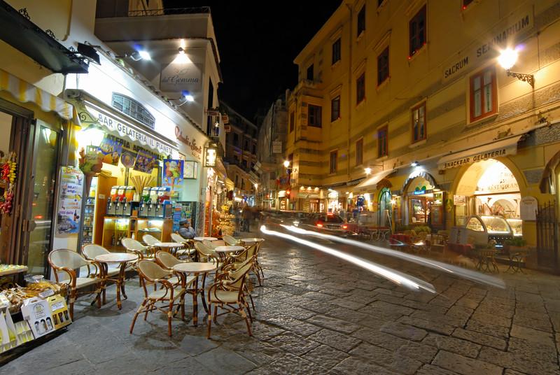 Night-time Street Scene, Amalfi (Italy)