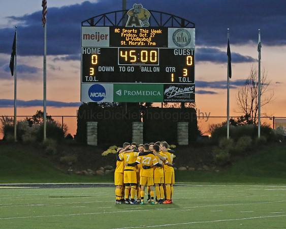 Adrian College vs Trine men's soccer senior night