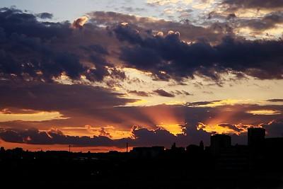 Západ slunce 29. 8. 2013