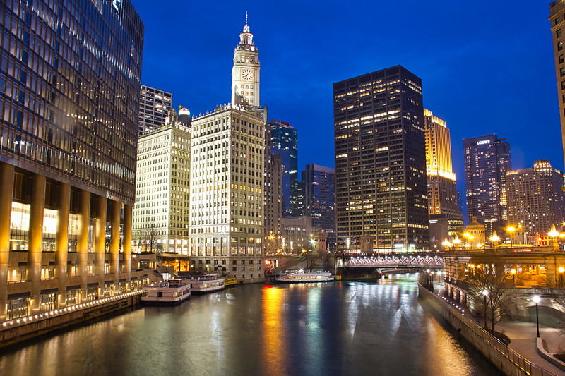 Blue Hour along the Chicago River