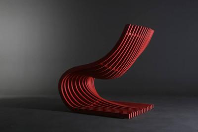 Pipo Chair by Alejandro Estrada for Piegatto. Double Section Chair by Piegatto.