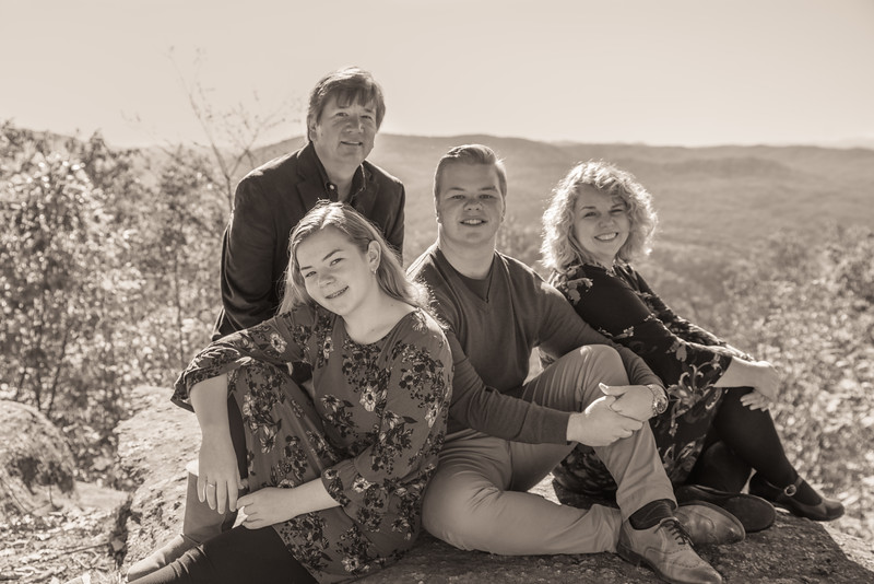Family and Sibling Pics (b&w)