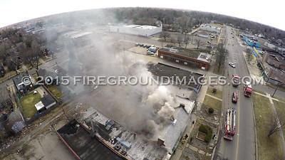 Kelly Rd. Building Fire (Detroit, MI) 3/28/15