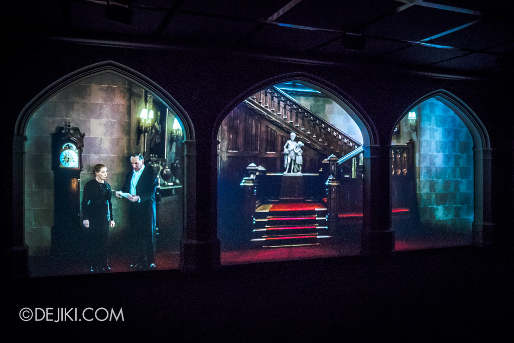 Downton Abbey The Exhibition - Finale Video, Projection screens