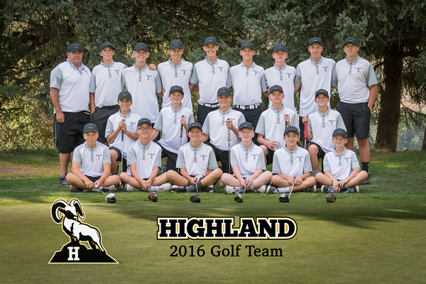 2016 HIghland Golf Team