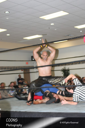 NECW 6/8/12 - Giant Pharaoh vs Ryan and Brandon Matthews