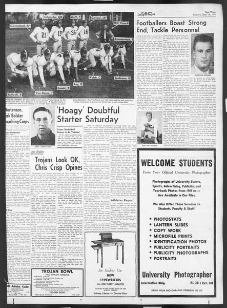 Daily Trojan, Vol. 43, No. 2, September 18, 1951