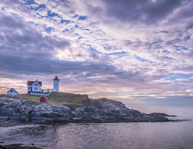 Nubble Lighthouse -  October sunrise