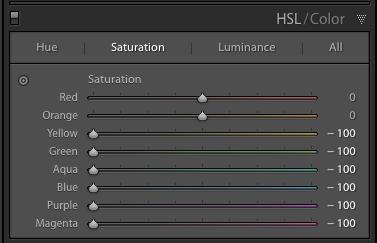 The HSL/Color Panel in Adobe Lightroom's Develop Module