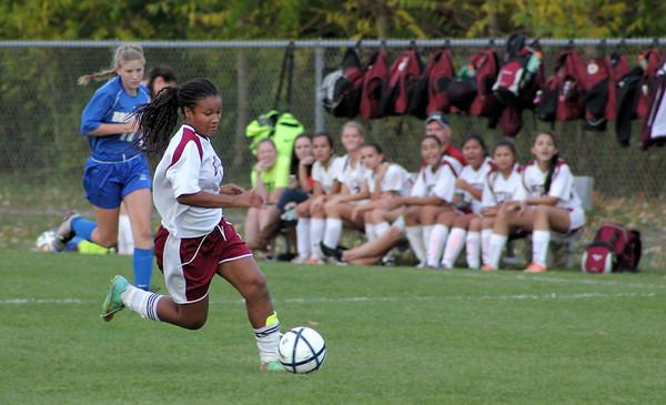 JV Girls Soccer vs Brookfield - 10/15/2014