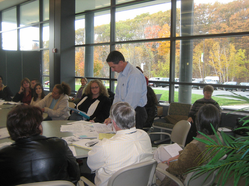 Meeting at the Athletic Center, Holyoke Community College, November 8, 2007.