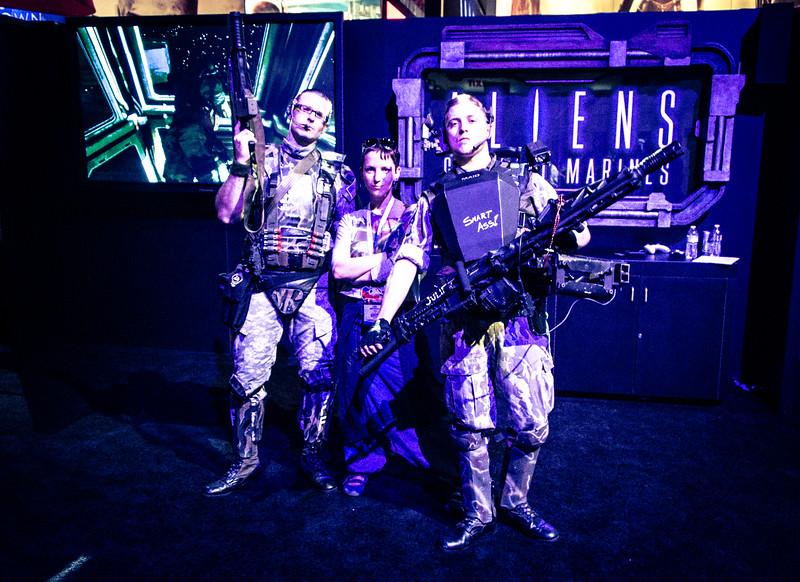 Larisa Nuretdinova and Aliens: Colonial Marines at E3 2012