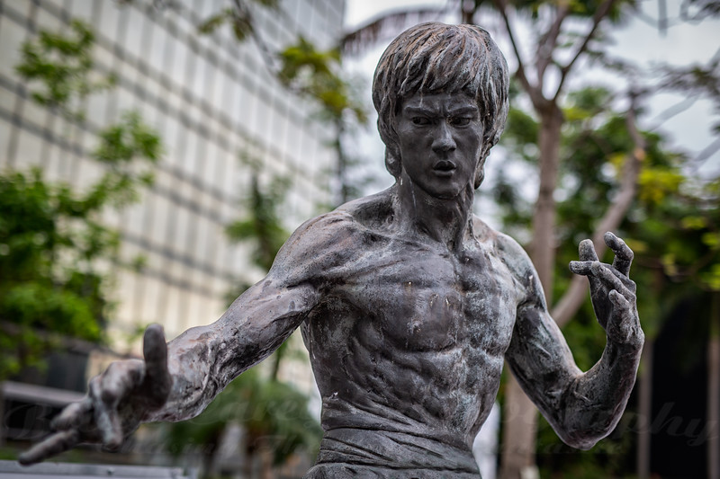 Bruce Lee Statue in Hong Kong
