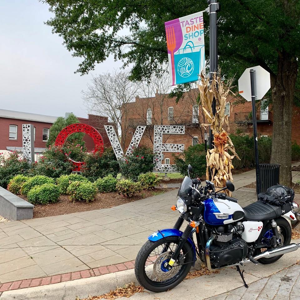lovework - culpeper virginia - triumph bonneville motorcycle