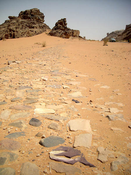 remains of Roman road towards Saudi trade routes...