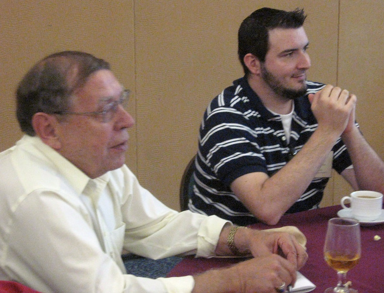 Bill Stark and Thom Lohman of the Described and Captioned Media Program, featured speakers.