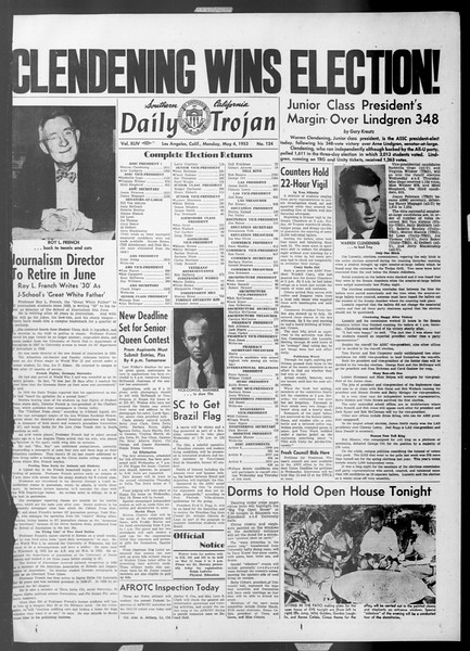 Daily Trojan, Vol. 44, No. 124, May 04, 1953