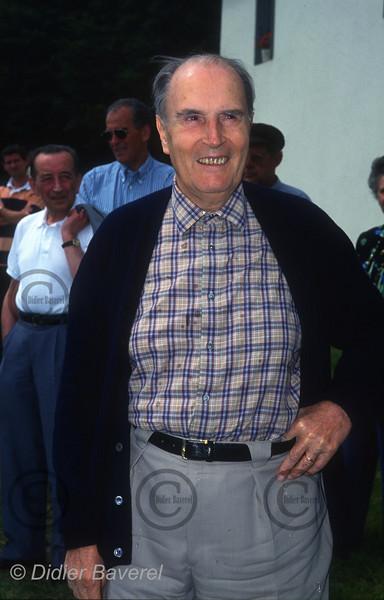 Francois Mitterrand au Lac Chauvet, France