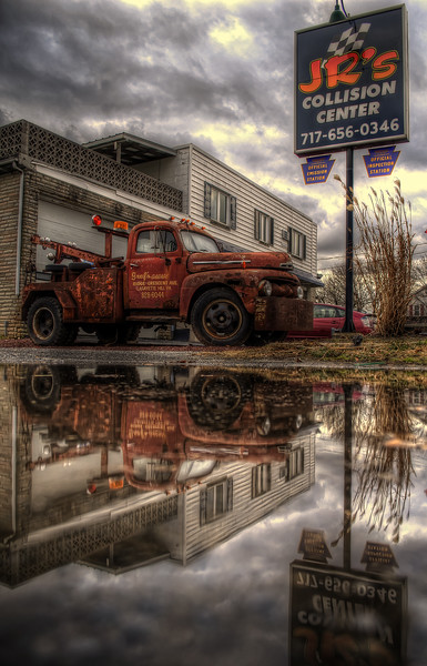 reflection - JRs Collision Old Truck(p).jpg