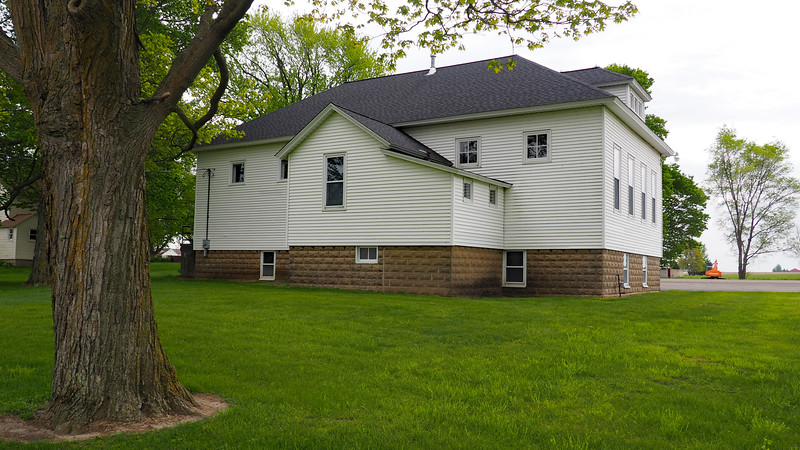 Overisel Township Hall - view from the back