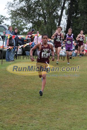 JV Boys D2 at 1 mile mark - 2014 Nike Holly Duane Raffin Cross Country Invite