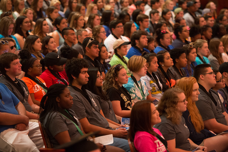 Students during the class of 2020's convocation ceremony.