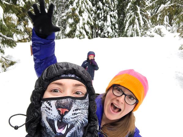 Snow Shoeing Trillium Lake 2018