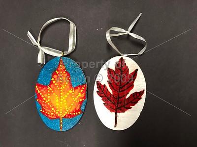 leaves for 'festival of trees' . 11.15.18