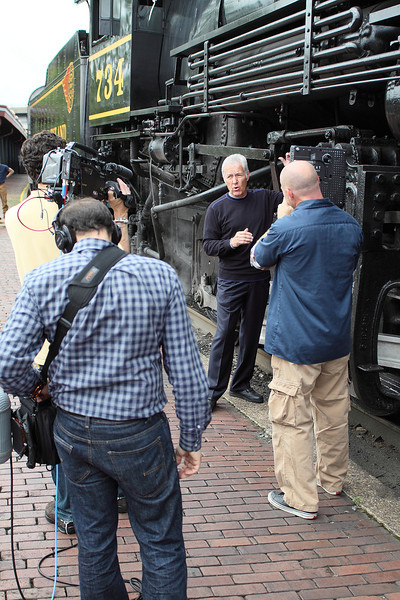 Alex Trebek visits the Western Maryland Scenic Railroad in Cumberland & Frostburg Maryland