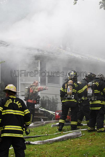 Budd Lake, NJ House Fire 11 Timberline Road 9/12/09