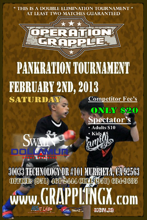 Operation Grapple Feb 2, 2013 Murrieta, CA Pankration