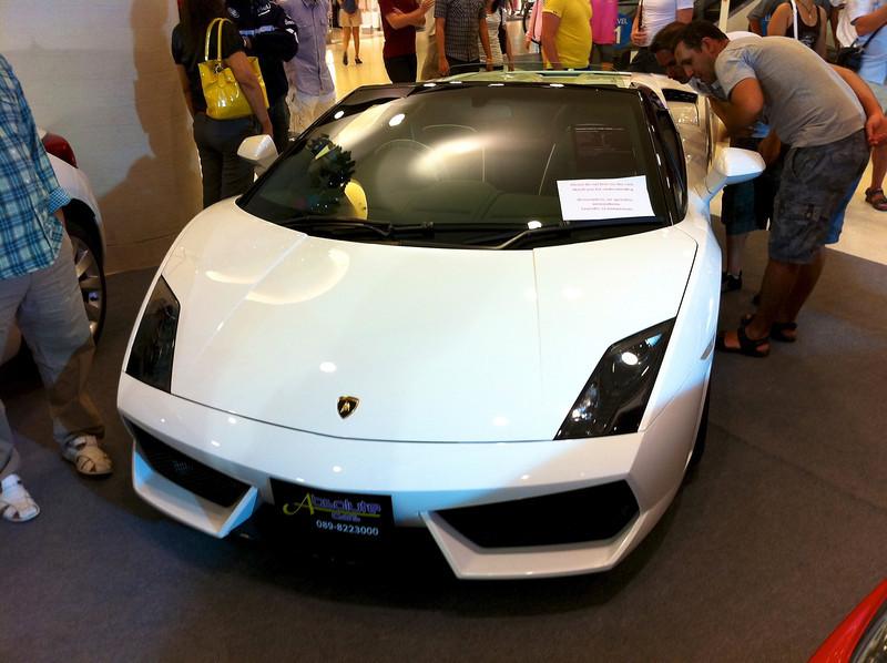 Pattaya - december 2010 Car show at Central Festival shopping mall