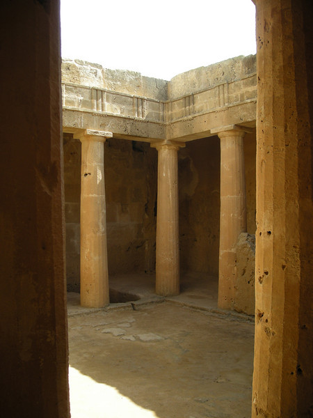 in a tomb in Pafos