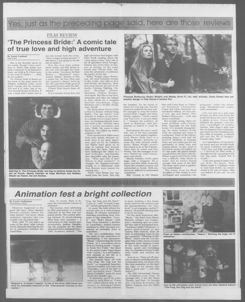 Daily Trojan, Vol. 105, No. 14, September 22, 1987