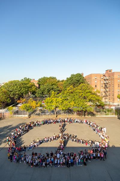 2019_09_25, Flushing, NY, PS/MS 200, Peace Sign