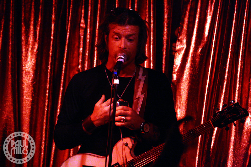 Jesse Hughes chats with the Cherry bar crowd during his solo set in February 2010.