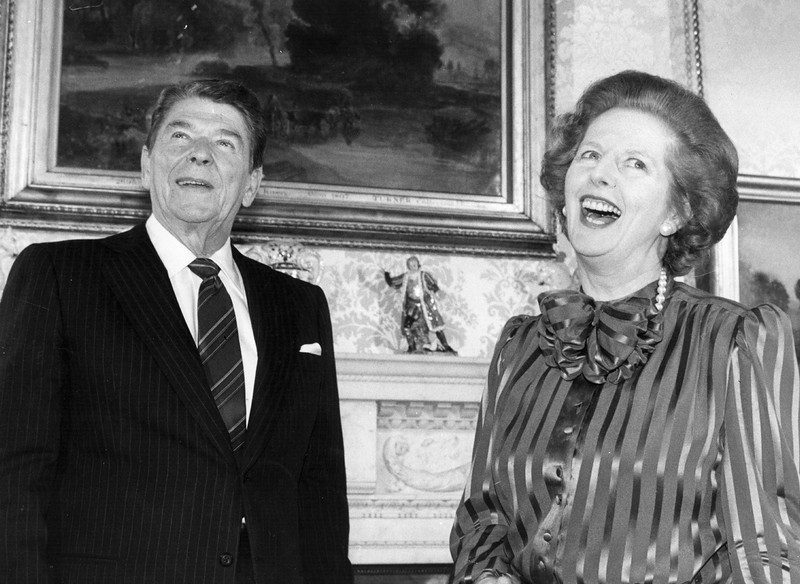 . Baroness Thatcher Dies Aged 87 - Thatcher On The World Stage   (Photo by Keystone/Getty Images)