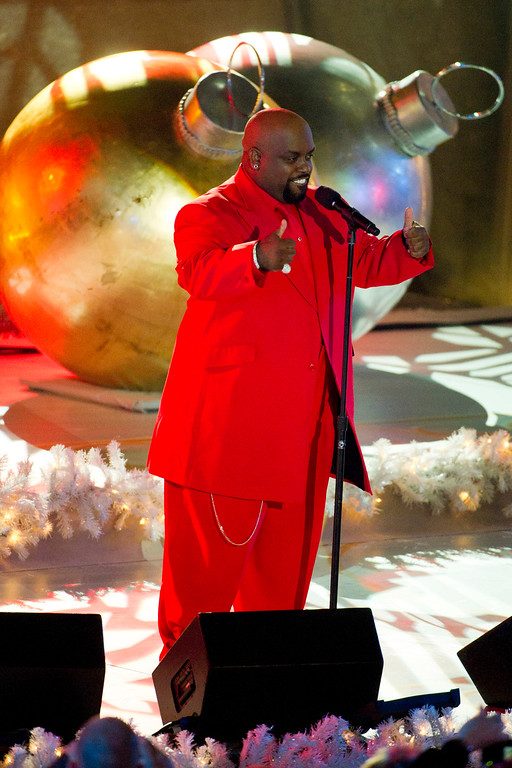 . Cee Lo Green performs at the Rockefeller Center Christmas tree lighting, in New York, Wednesday, Nov. 30, 2011. (AP Photo/Charles Sykes)