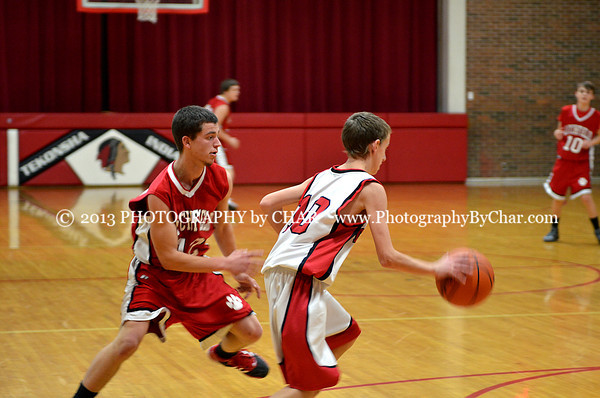 Tekonsha vs Litchfield JV Basketball Game 1-9-2014