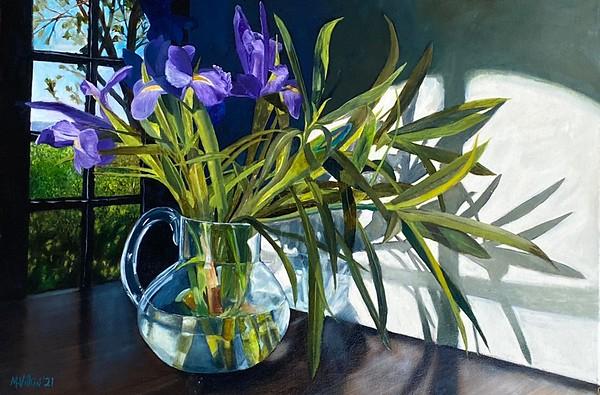 """Irises"" (oil) by Michael Vilkin"