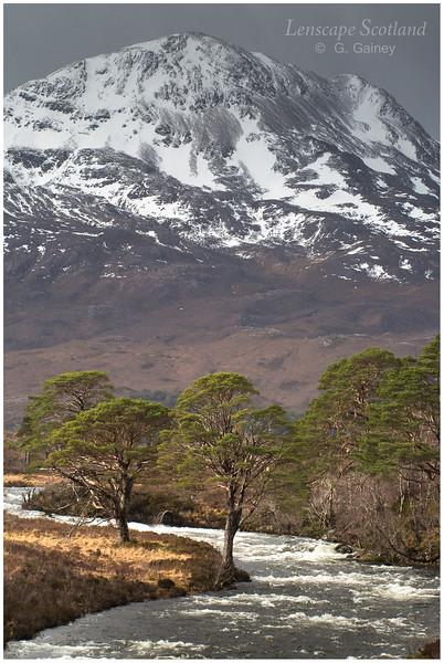 A'Ghairbhe river and Sgurr Dubh, Glen Torridon