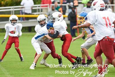 09-08-2018 Rockville Football League Cardinals vs Dawgs at King Farm Park Rockville MD, Photos by Jeffrey Vogt Photography