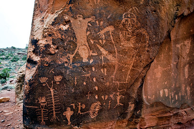 Moab Utah petroglyphs