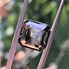 4.57ct Fancy Dark Greenish Yellow Brown Asscher Cut Diamond GIA 10