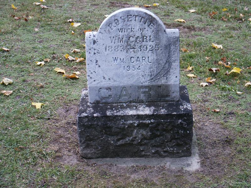 Rosettie Carl and Wm. Carl