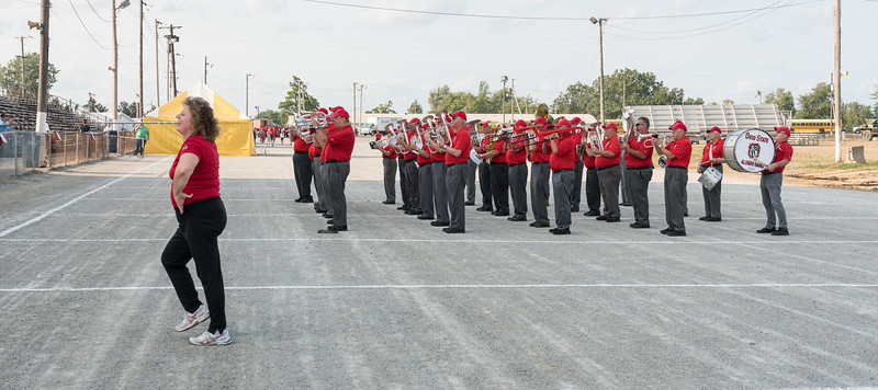 Refreshed and fed, TBDBITL performs a second short concert, this time for the grandstand