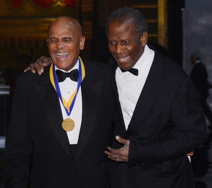 . LOS ANGELES, CA - FEBRUARY 01:  Harry Belafonte, Sidney Poitier attends the 44th NAACP Image Awards at The Shrine Auditorium on February 1, 2013 in Los Angeles, California.  (Photo by Mark Davis/Getty Images for NAACP Image Awards)